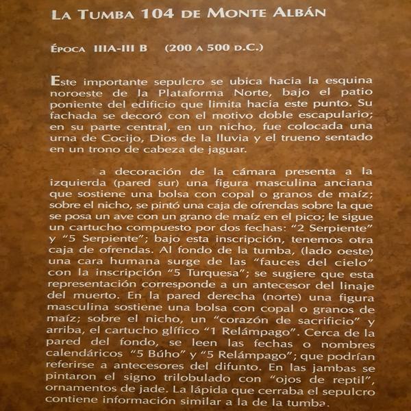 RESEÑA TUMBA MONTE ALBÁN